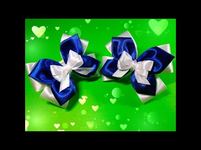Бантики из атласных лент Beautiful bow of satin ribbons