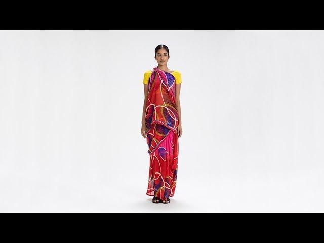 How To Drape a Sari No. 40 Gobbe Seere Drape - Karnataka, India