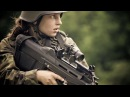 Women Military Army Shooting Machine Gun Beautiful Female soldiers firing big weapons Armed Forces