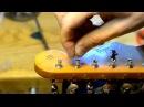 Fender Strat slot tuner restring tip to prevent Hi E slippage keep it in tune by Bill Baker