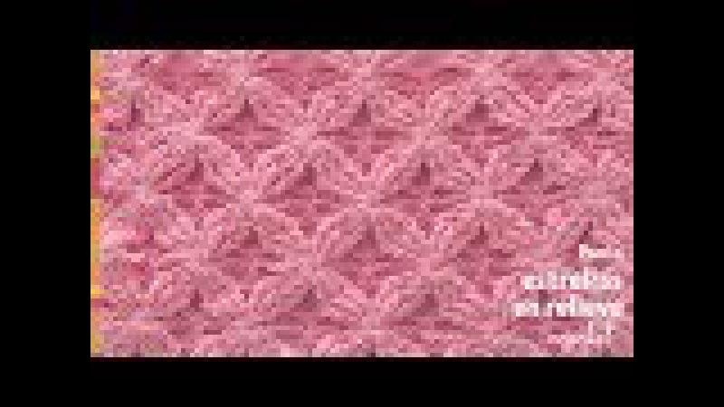 Punto estrellas en relieve tejido a crochet - Tejiendo Perú