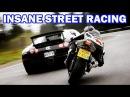 {Top 7 Street Racing} SUPERCARS vs SUPER BIKES    Lamborghini,Bugatti.. vs Kawasaki,Yamaha R1