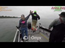 Dramatic moment fishermen dive overboard to avoid oncoming boat