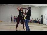 Walter &amp Oksana ZOUK demo Ipanema Dance Studio