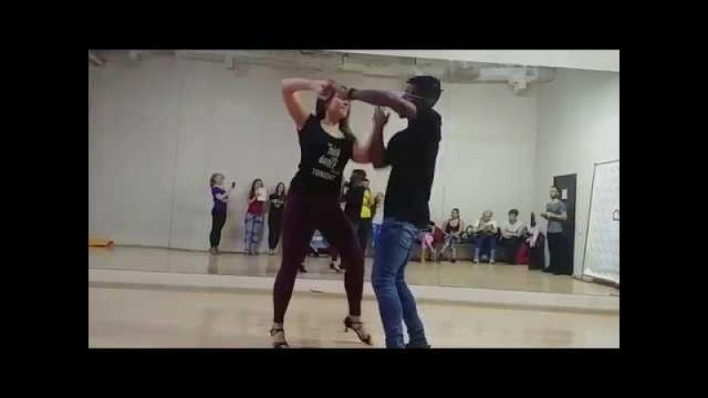 Walter Oksana ZOUK demo Ipanema Dance Studio