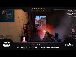 ELEAGUE Major | mouz vs. Na'Vi | ropz 4k to clutch the round