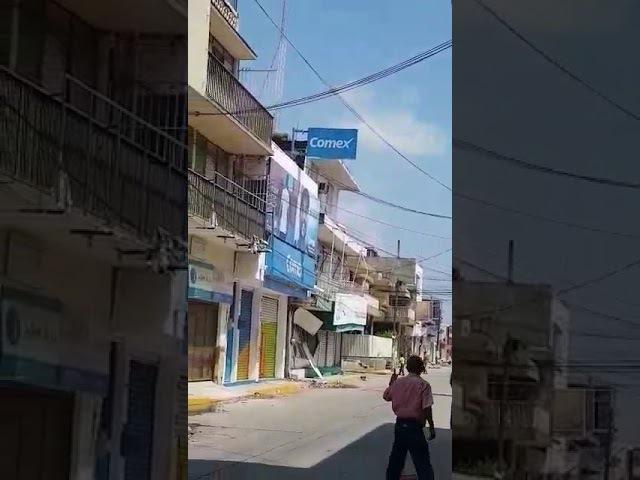 Terremoto Mexico 2017 |Momento exacto en que cae edificio en Juchitan, Oaxaca|