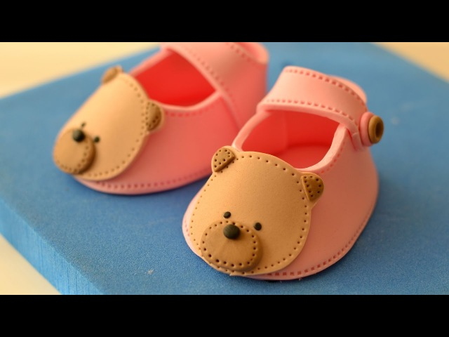 Teddy Bear Fondant Baby Shoes Tutorial 베이비 슈즈 만들기