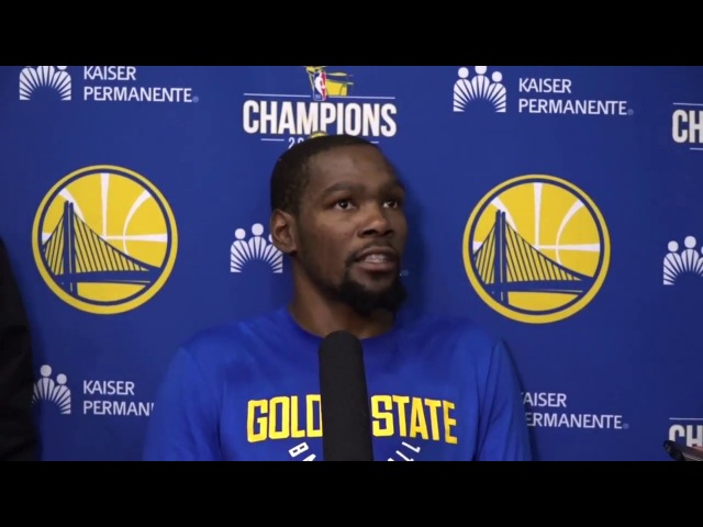 Kevin Durant Talks OKC Matchup, Russell Westbrook, NCAA Scandals | 2017-18 NBA Season