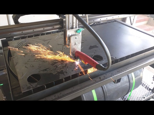 Homemade 4'x2' CNC Plasma Build Part 11 Test Cuts and Covers