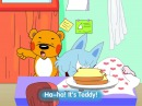 Super Teddy S1E2: Story: Nock, nock, nock, Ah a wolf. Ha-ha is teddy….