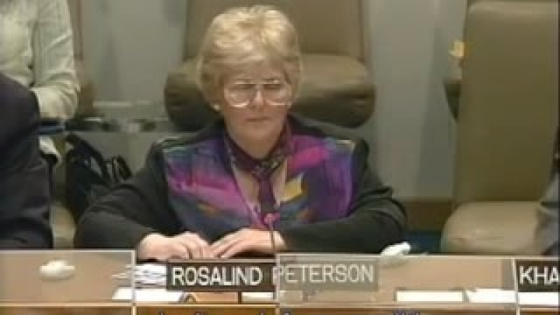 Chemtrails are real - UN speech by Rosalind Peterson
