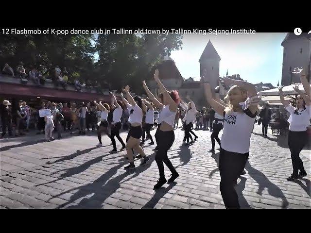 12 Flashmob of K-pop dance club in Tallinn old town by Tallinn King Sejong Institute