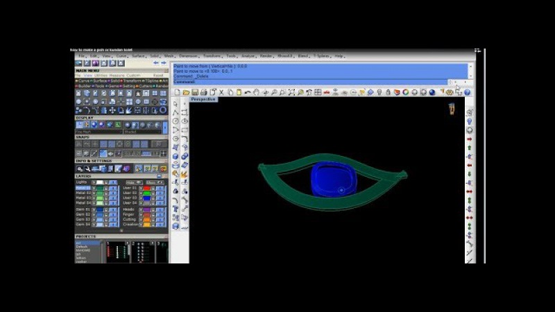 Jewellery cad design how to make a pish or kundan kolet rhino cad matrix gemvision