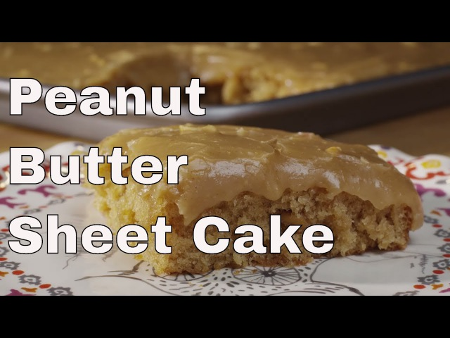 Peanut Butter Sheet Cake || Le Gourmet TV Recipes