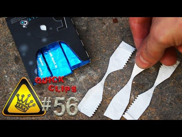 QC56 - Gum Wrapper Fire Starter