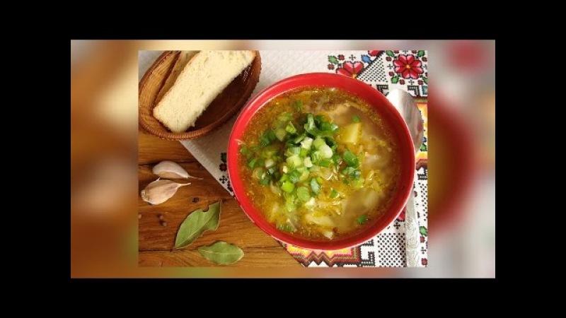 🍽 Щи из свежей капусты с рыбной консервой