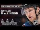Nathan MacKinnon stays red hot, records eighth three-point game of season