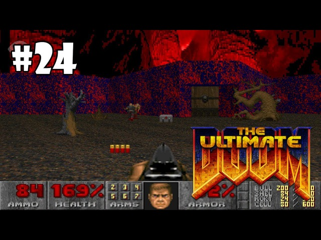 The Ultimate Doom прохождение игры - E3M6: Mt. Erebus (All Secrets Found)
