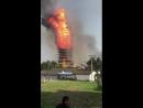 Пожар в буддийском храме