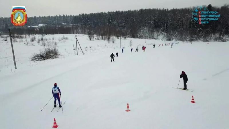 Лыжная гонка. Старт и финиш