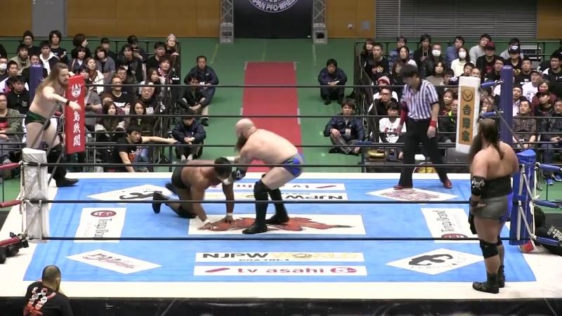 [My1] Матч Блока Б - David Finlay Katsuya Kitamura vs. War Machine (Hanson Raymond Rowe)