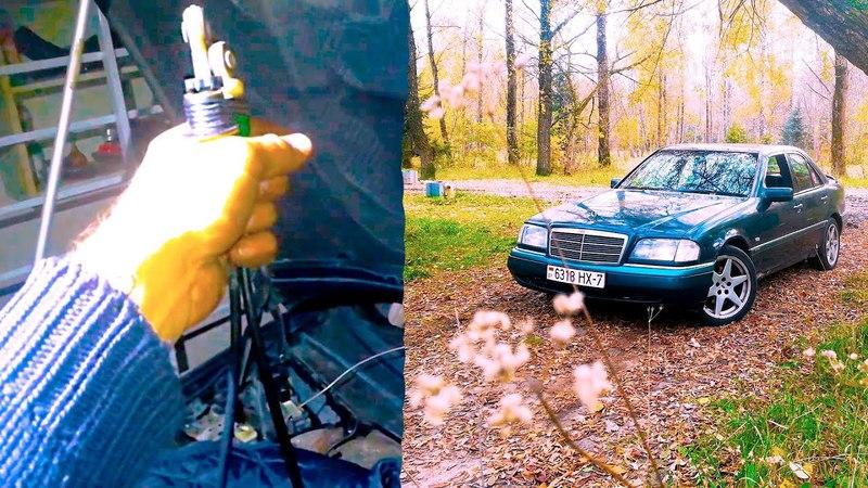Меняем тросик газа МЕРСЕДЕС W202 | Говорим о качестве Мерсов| AutoDogTestParts | AutoDogTV 15
