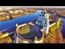 Псковский Кром (Кремль) с высоты птичьего полета