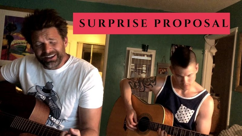 Surprise Proposal 🎶 Musician Improvs LOVE SONG Asks For Marriage 🎶