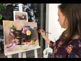 Студия «Живопись Маслом». Пишем натюрморт с розами с Юлией Фадюшиной