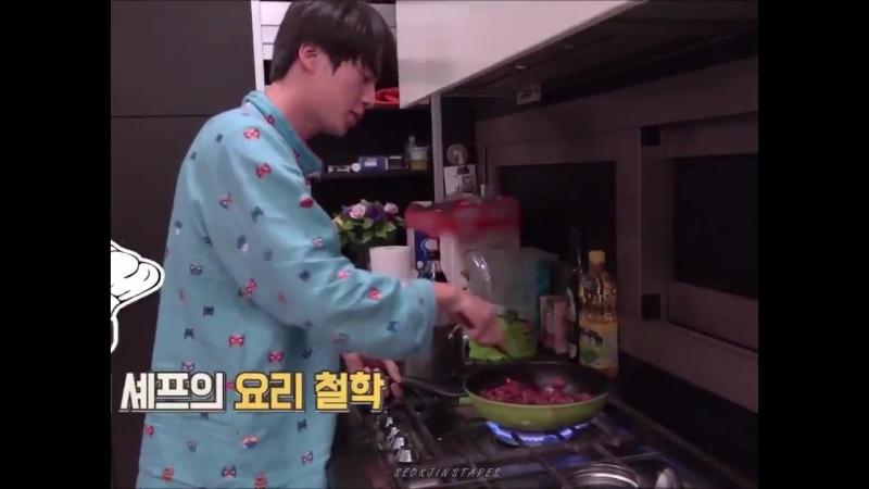 Early morning jin cooking in pyjama seokjinism