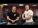 Тренировка груди на длительном отдыхе. Александр Ларьков и Павел Баранов