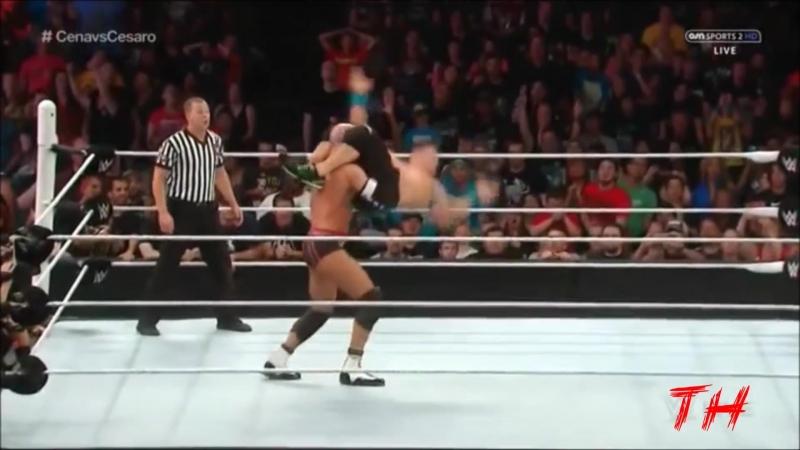 John Cena vs Cesaro Highlights HD Raw 06 07 2015