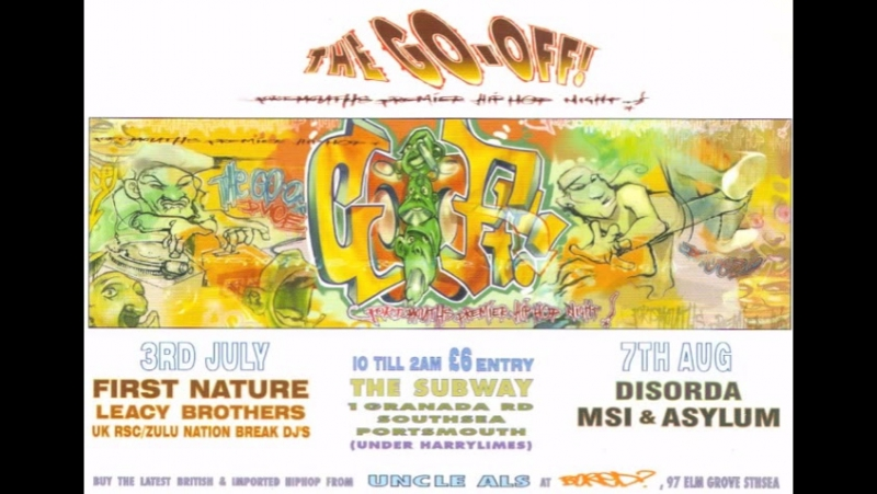 Dj Leacy (1971 - 2004) Dj Taz - Live at The Go-Off! Snippet taken from Youtube.