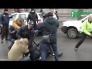 Драка нациков с полицией в Кременчуге