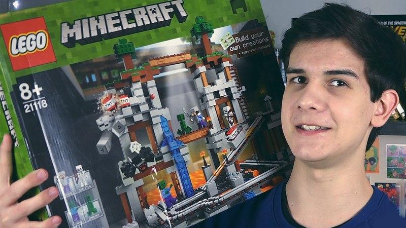 LEGO Minecraft Шахта НАБОР НА ОБЗОР 21118