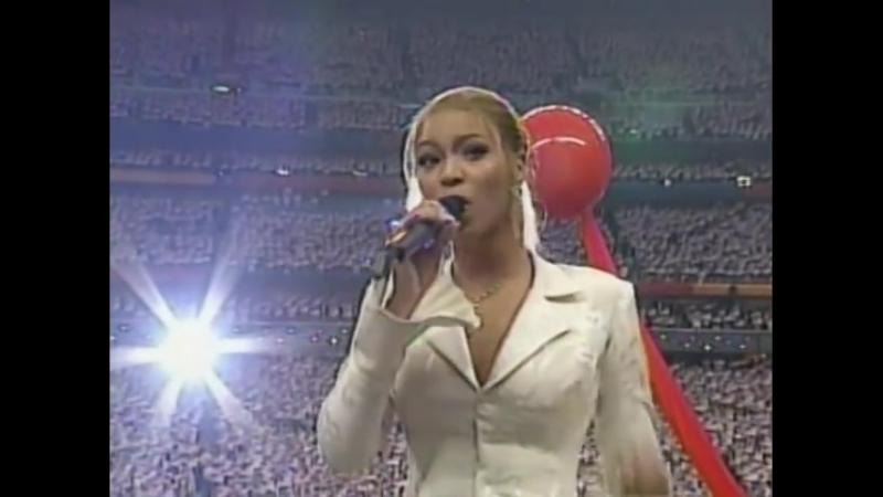 Beyoncé USA National Anthem Live at Super Bowl 2004