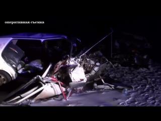 Видео с места ДТП под Калугой, в котором погибли 4 человека