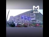 Видео наезда автобуса на остановку на Сходненской