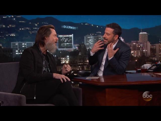 Джим Керри и его борода дают интервью