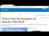 Thats How the Kingdom of Heaven Was Built eBook ) download it at Amazon Google iBooks BestSellers
