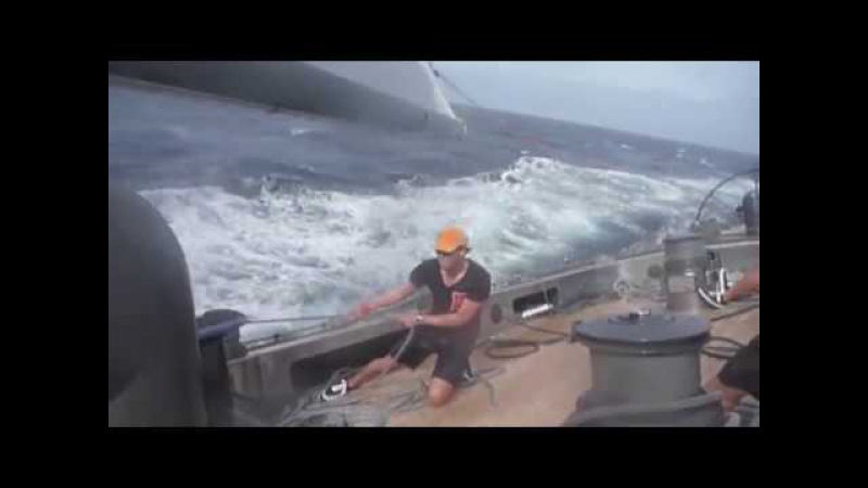 ЯХТА СПОРТИВНАЯ В МОРЕ (16 Kn. on Yacht ´Firefly´ must see!)