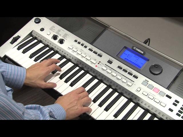 Чувствительность клавиатуры TOUCH RESPONSE на инструменте Yamaha PSR-E443