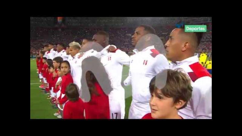 La emocionante entonación del Himno Nacional en el Perú vs. Nueva Zelanda