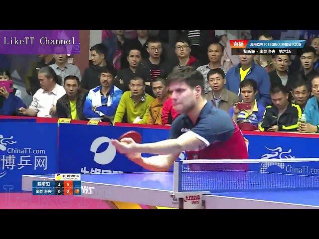 Dimitrij Ovtcharov vs Li XinYang【2018-01-20】Hainan Grandmaster Grand Prix