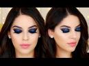 Ojos Ahumados Negro con Brillo Azul para Año Nuevo | Black Blue Glitter Smokey Eye