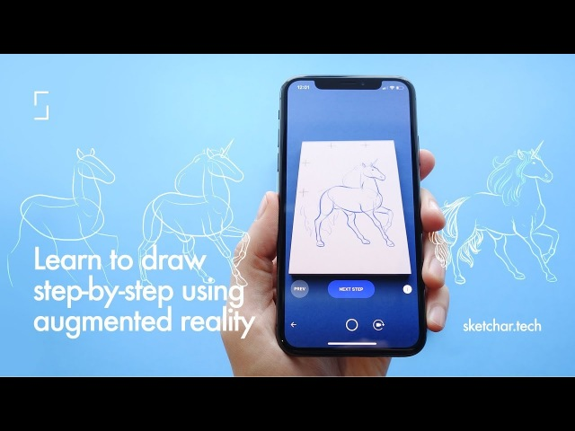Learn to draw with AR. Step by step drawing using augmented reality — SketchAR School.