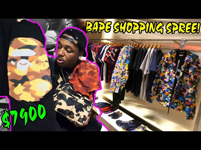 BUYING SOME NEW SHT! $7900 SHOPPING SPREE IN SNEAKERHEAD HEAVEN! NEW BAPE, NIKE, ADIDAS MORE!