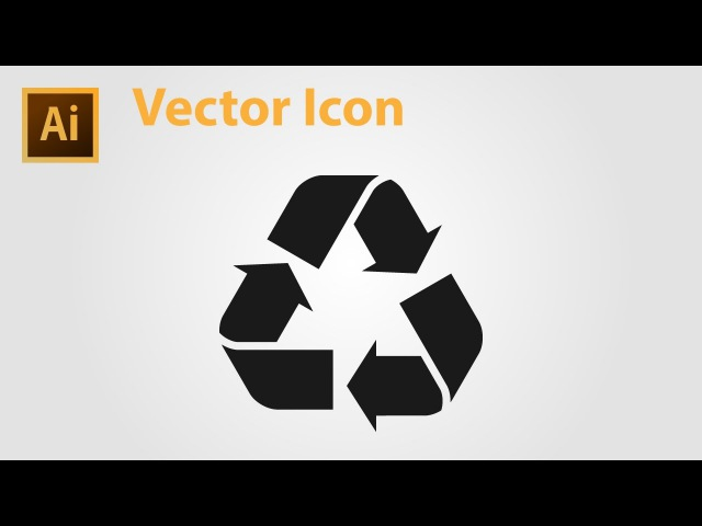 How to Draw Recycle Icon - Adobe Illustrator