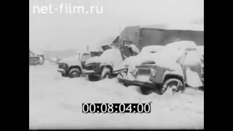 Уборка снега в Калининграде 1979 Snow cleaning in Kaliningrad 1979
